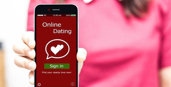 Foto van een dating-app